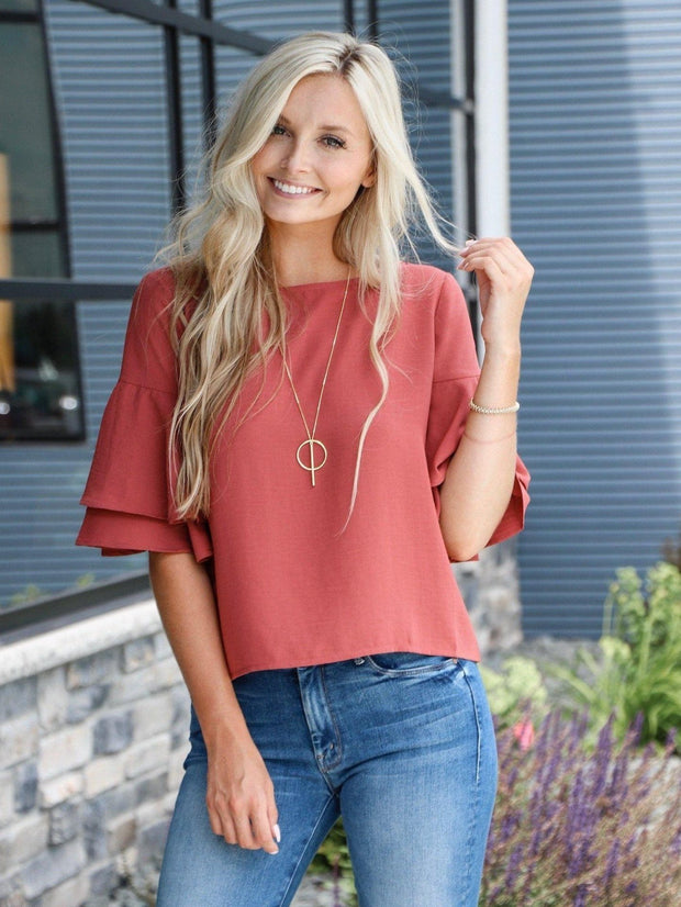 bb Dakota brick blouse