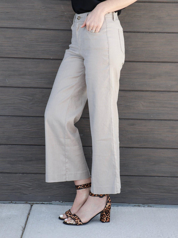 level 99 cropped tan pant