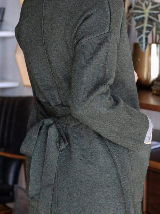 olive long jacket cardigan