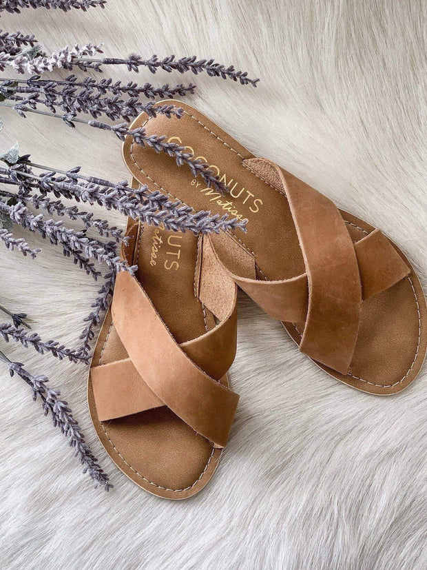 tan criss cross sandal