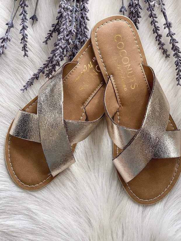 rose gold strappy sandal