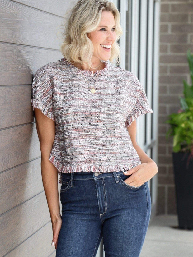 cupcakes & cashmere textured top