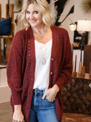 berry Billabong grandpa cardigan