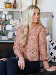 Saltwater Luxe Patterned Button Front Blouse