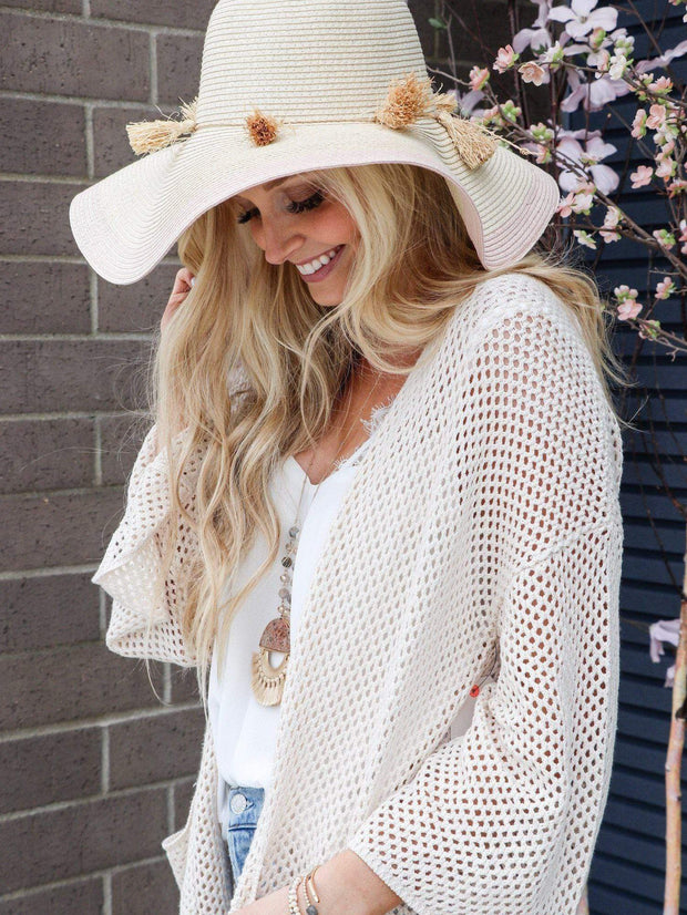 straw floppy summer hat