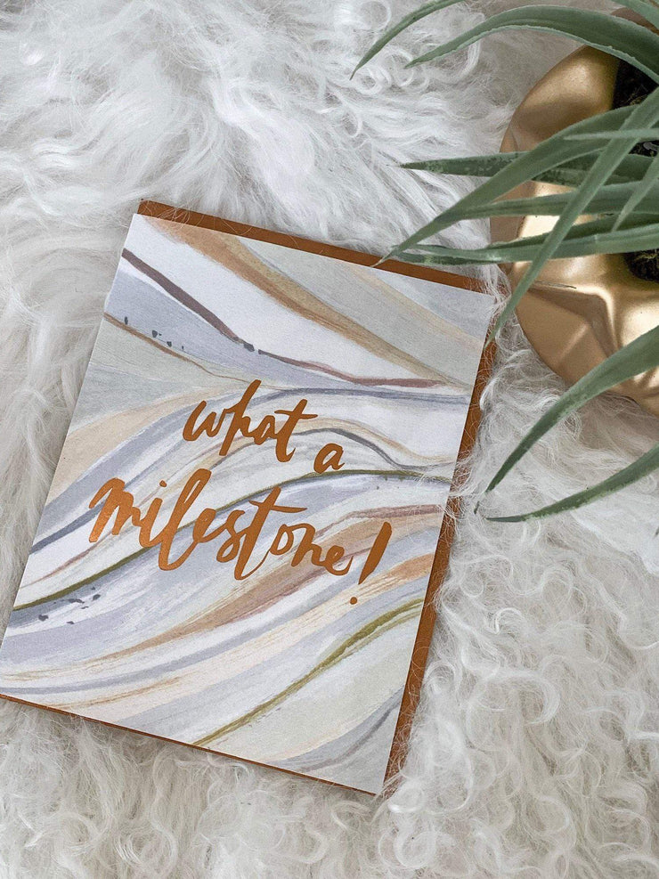 milestone greeting card