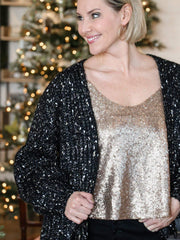 Gentle Fawn Speckle Open Front Cardigan
