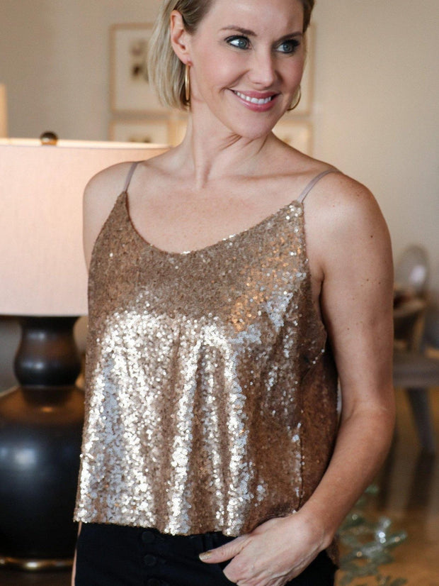 Gentle Fawn Sequin Tank Top
