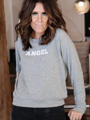 Project Social heather gray Angel sweatshirt