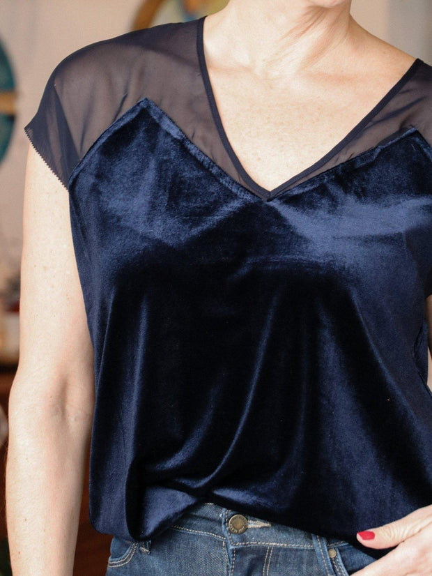 Gentle Fawn Sheer Accent Detail Top