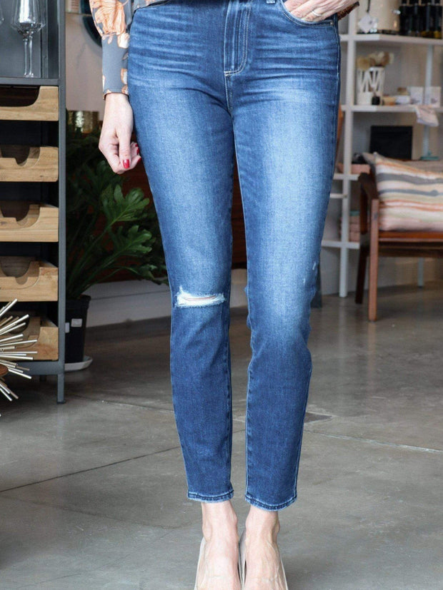 PAIGE Margot Knee Destruct Denim