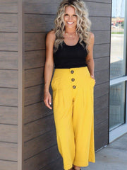 JOA wide leg yellow pants