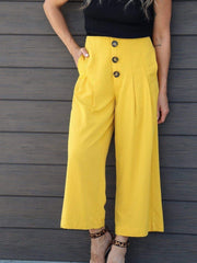 button front pants