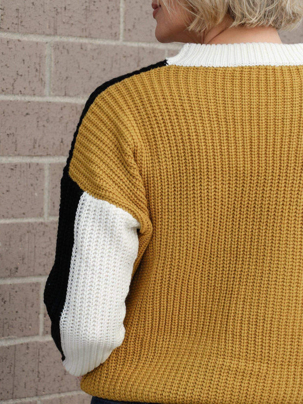 Crew Neck Multi Color Sweater