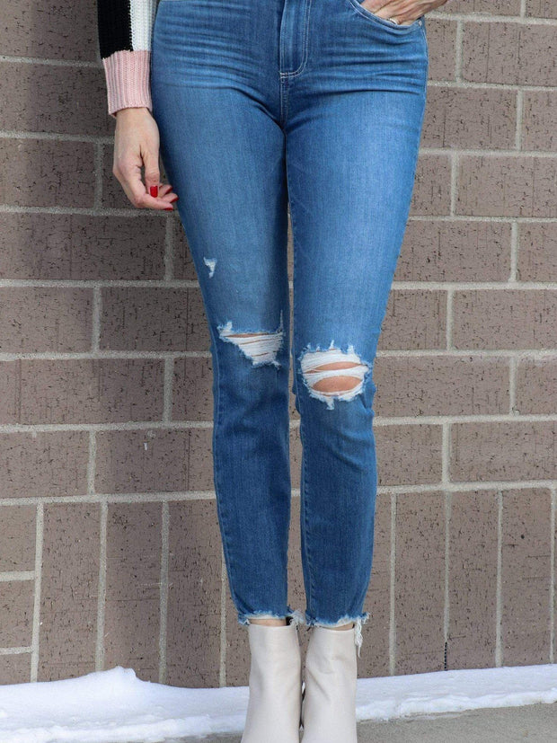 PAIGE Knee Destructed Denim