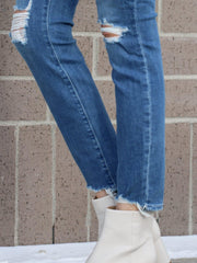 Paige High Waisted Destructed Denim
