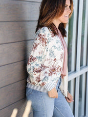 Saltwater Luxe Floral Bomber Jacket