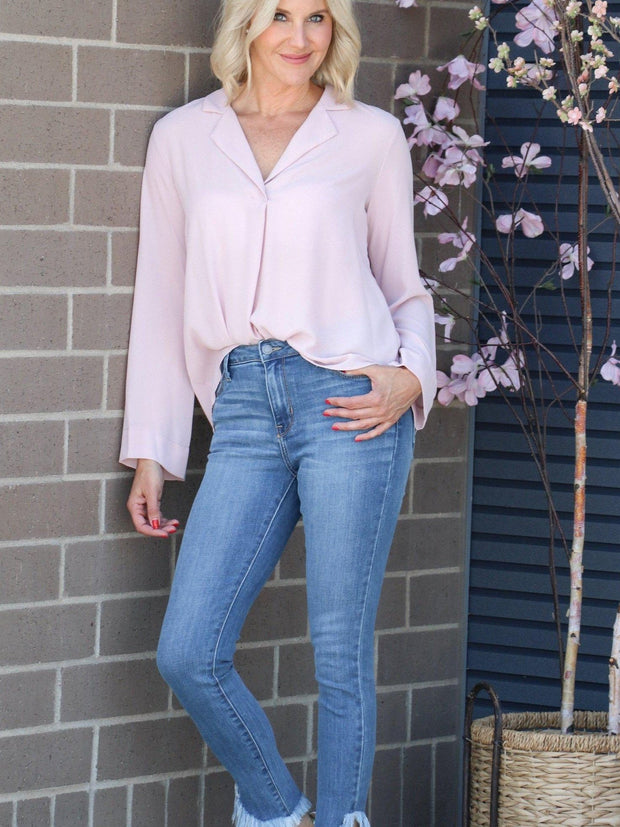 LUSH wrap blouse