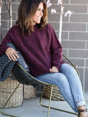 Rag Poets diamond stitch sweater