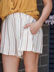 striped soft shorts