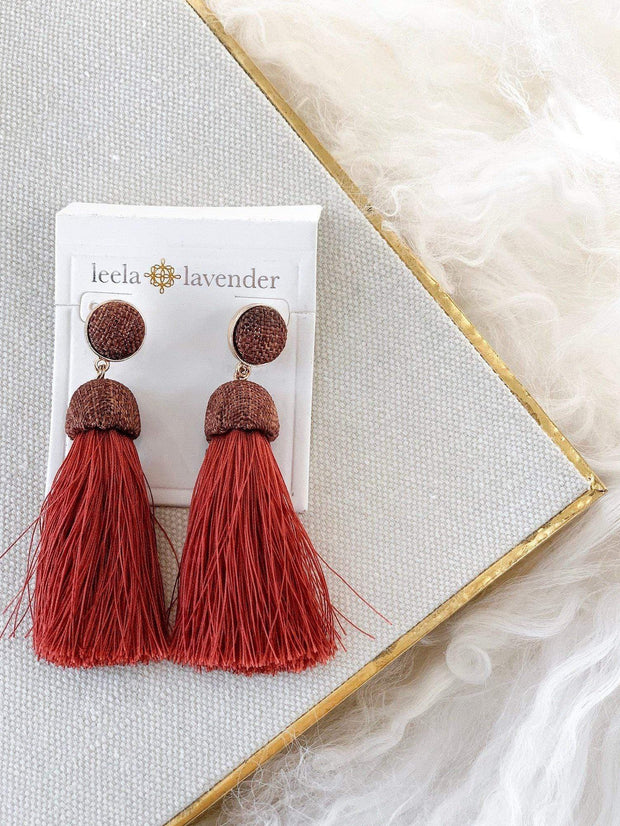 Fabric Tassel Dramatic Fringe Earring