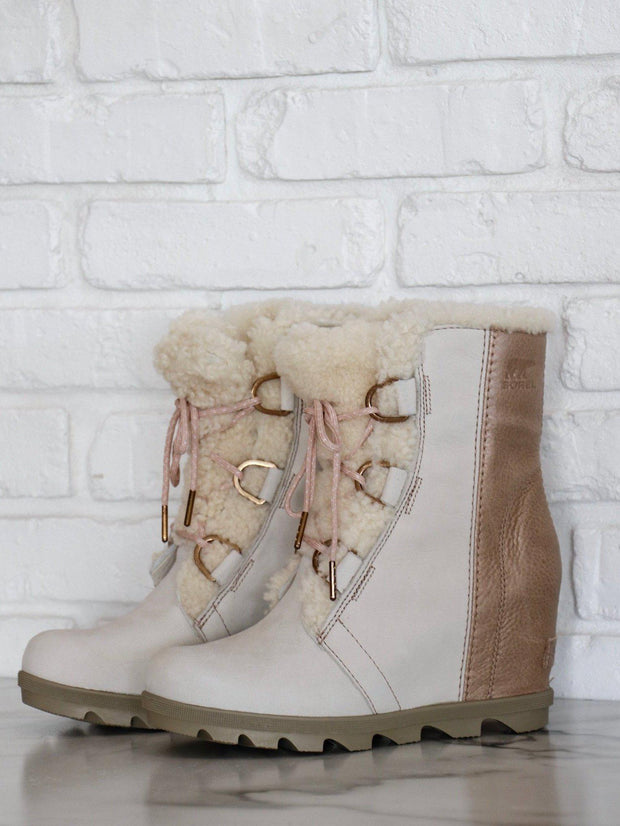 Sorel Sherpa Lace Up Wedge Boot