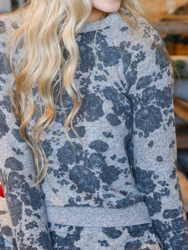 Z Supply Marled Floral Pullover