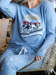 PJ Salvage Staycation Mountain Graphic Long Sleeve