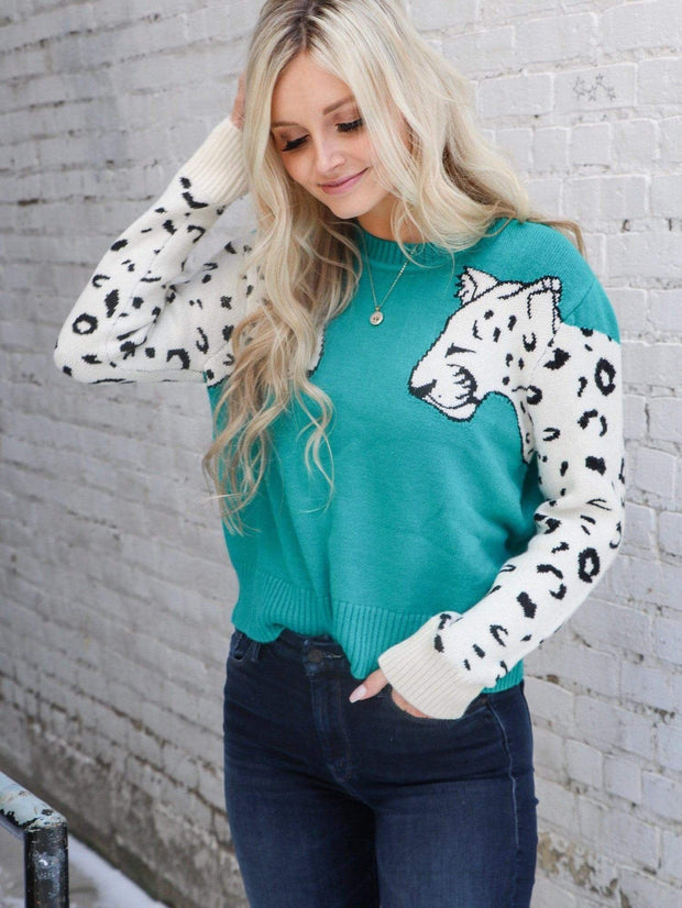 Mink Pink Contrast Animal Sleeve