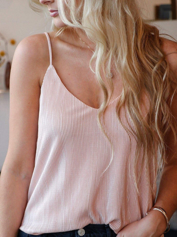 Ribbed Thin Strap Cami