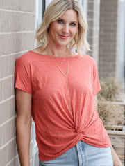 coral knot front top
