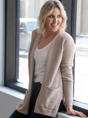Soft Pocket Front Open Cardigan