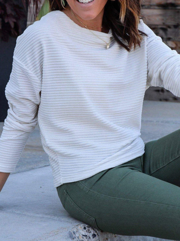 ribbed Z Supply ivory sweater