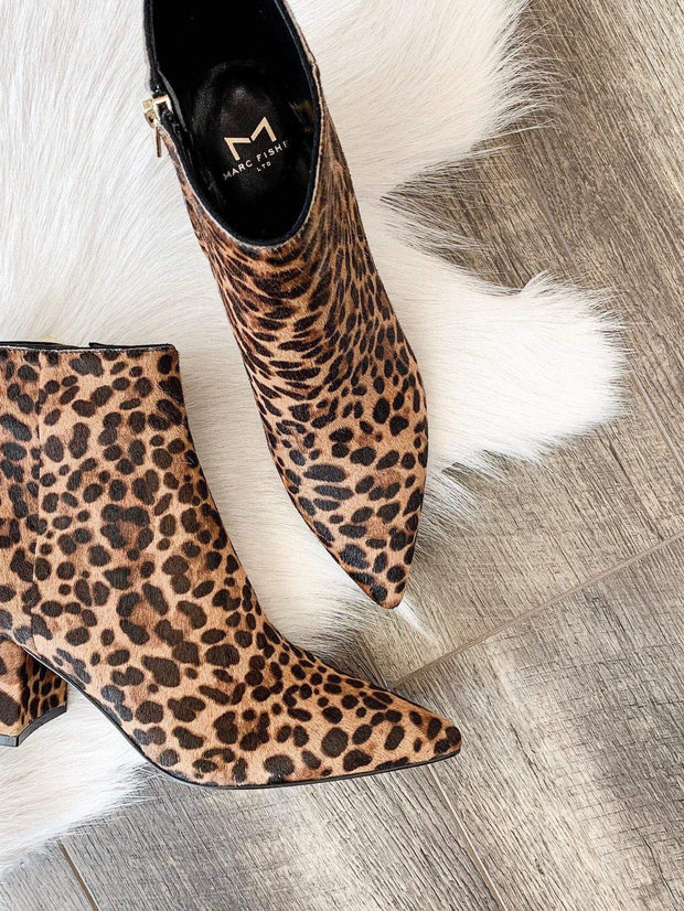 Marc Fisher leopard bootie