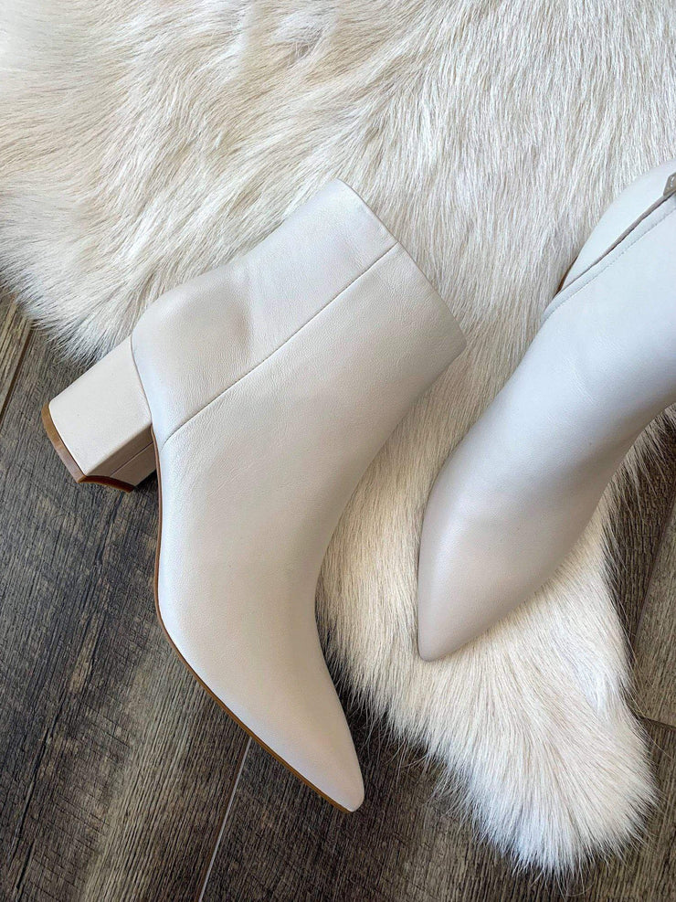 Marc Fisher Ivory leather bootie