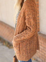 mustard cable cardigan