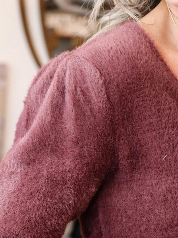 ASTR Puff Sleeve Detail Sweater