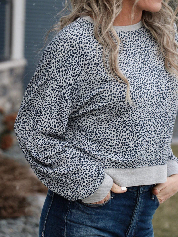 Z Supply Mini Leopard Print Long Sleeve