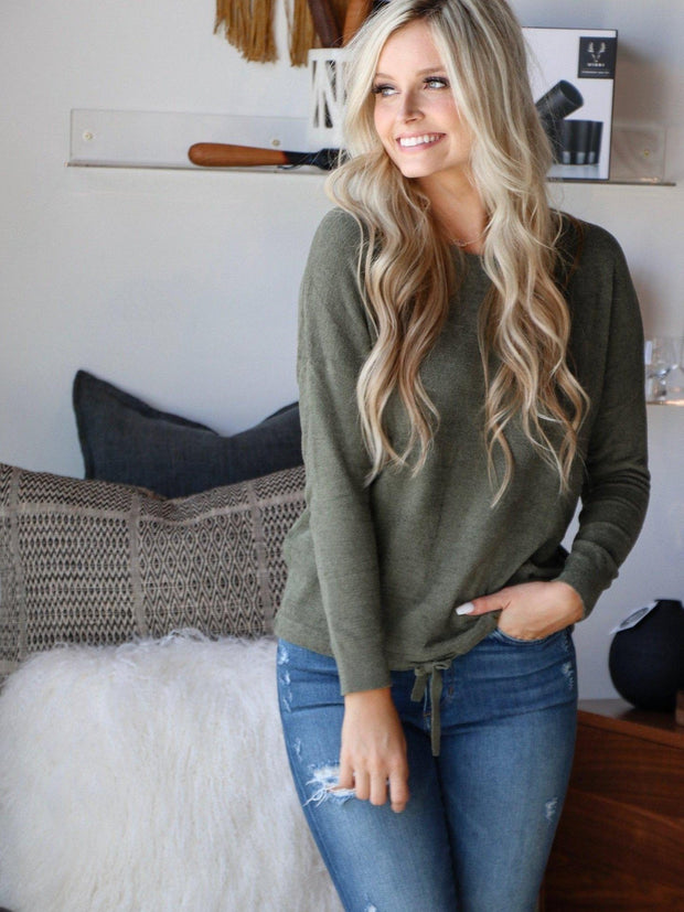 olive super soft sweatshirt