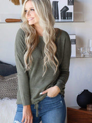 Barefoot Dreams olive pullover