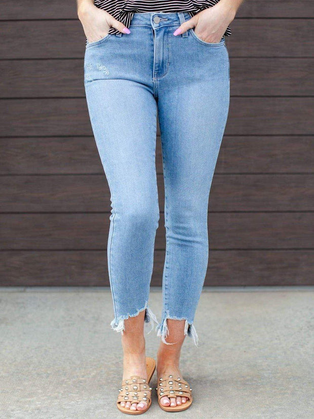 just black lightwash skinny jean