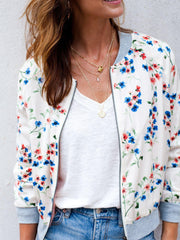 Saltwater Luxe Mixed Print Spring Blossom Bomber Jacket