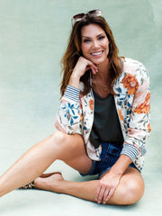 Saltwater Luxe Blossom Romance Bomber Jacket