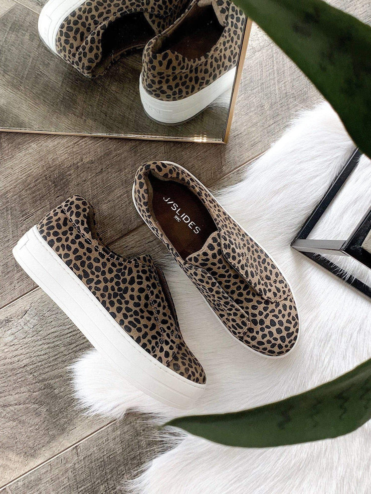 cheetah j slide sneakers