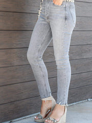 gray AGOLDE skinny jeans