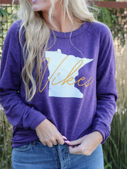 VIKES purple sweatshirt
