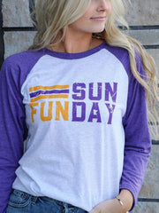 Sunday Funday 3/4 Raglan Tee
