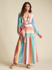 Billabong Printed Bold Stripe Maxi Dress