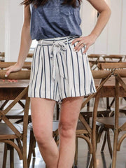 BB Dakota striped self tie short