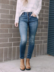Blank NYC Denim jeans Blank NYC High Rise Exposed Fly Skinny